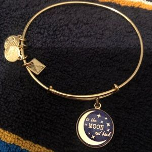 """Alex and Ani """"to the moon and back"""" bracelet."""